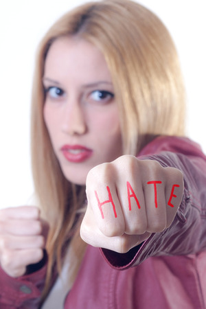 bigotry: Young girl hate