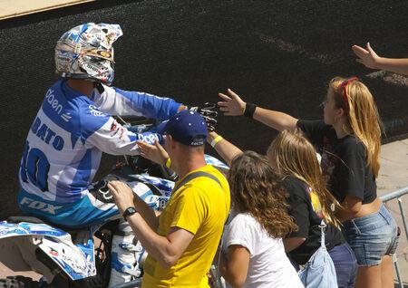xavi: Rider Jabato Xavi Dols  FMX Freestyle  Extreme Barcelona 2014  Barcelona, Spain  29 june, 2014  Editorial