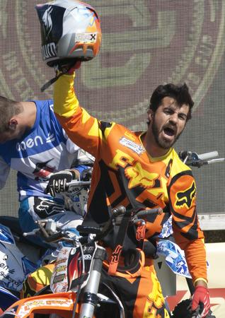 xavi: Riders El Loco Jose Miralles and Jabato Xavi Dols  FMX Freestyle  Extreme Barcelona 2014  Barcelona, Spain  29 june, 2014