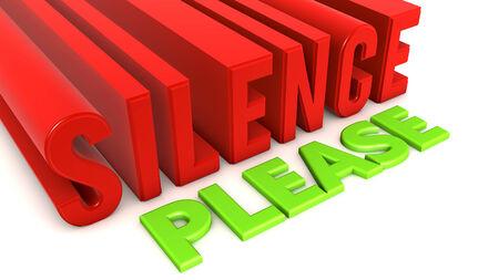 Silence please photo