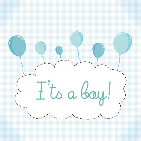 Baby boy baby shower invitation card template