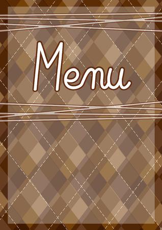 Restaurant menu design template Stock Photo