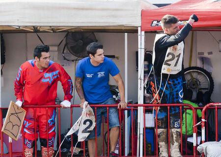 Driver Miquel Puigdelliura Abarca. MX  Team. International 24 hours resistance Vall del Tenes. Barcelona, Spain. 07 September 2014 Editorial
