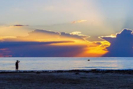 Sunrise on the beach in Spain