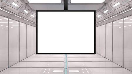 Futuristic interior and frame Stock Photo