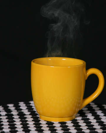 Steaming Yellow Cup