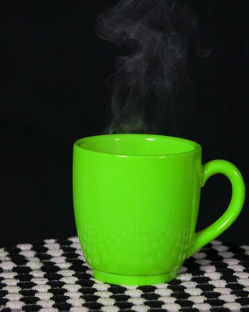 Steaming Green Cup 版權商用圖片