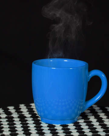 Steaming Blue Cup