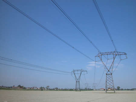 electricity supply: Electricity supply pylons in countryside
