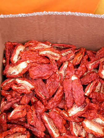 Sun dried tomatoes, typical of Sicily and south of Italy