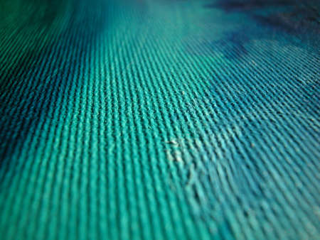 Macro of blue and green waves of oil on canvas colours
