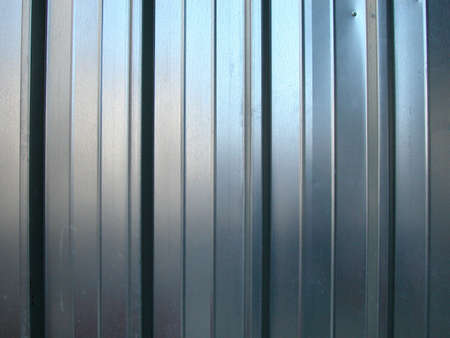 Galvanized zinc striped metal wall as a background Stock Photo - 5044053