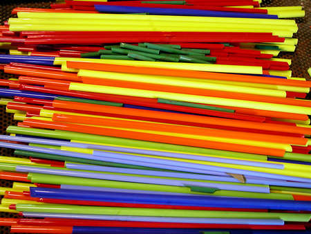 Colorful glass stiks to be worked with fire in Murano, Venice, Italy Stock Photo