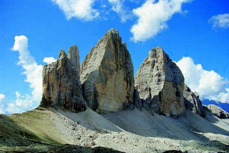 Scenic view of Tre Cime di Lavaredo, Dolomites, Sexten, Italy