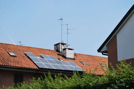 Solar panels on the roof of a house Stock Photo - 5148513