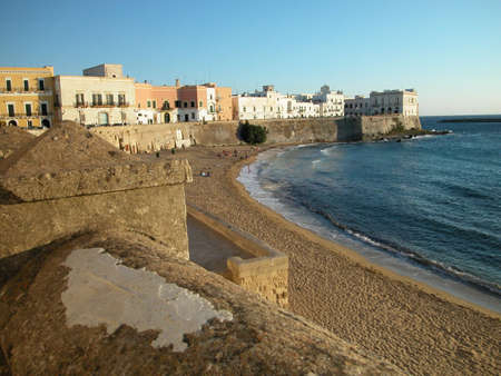Panoramic view of Gallipoli old town at sunset, Apulia, Italy Stock Photo - 5162207