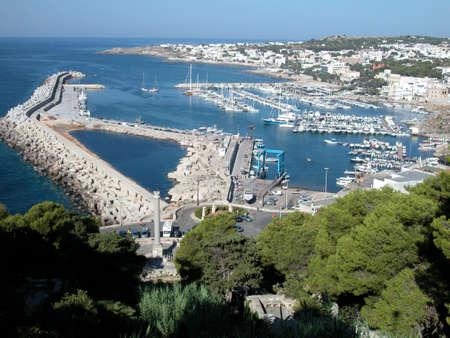 Panoramic view of Santa Maria di Leuca village, Apulia, Italy
