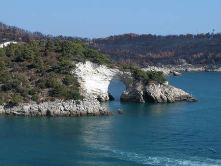 The Gargano coastline after burning, Apulia, Italy Stock Photo