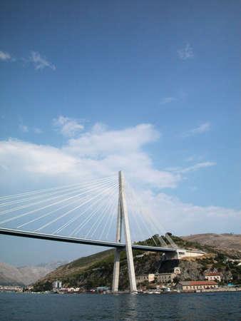 View of Dubrovnik modern bridge, Croatia photo