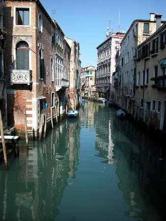 View of a canal in Venice, Italy photo