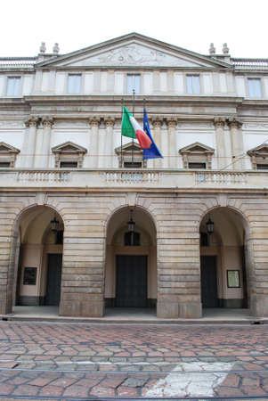 Worlds famous theatre Scala in Milan, Italy Editorial