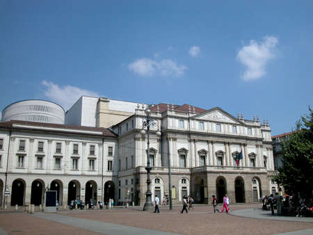 Worlds famous theater Scala in Milan, Italy Editorial