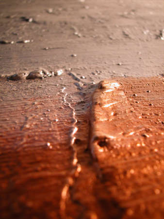 Macro of silver and copper color on canvas, abstract texture background Stock Photo - 6578474