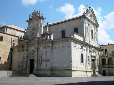 The dome, baroque cathedral in Lecce, Apulia, Italy Stock Photo