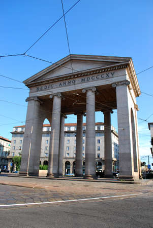 ticinese: Ancient city entrance Porta Ticinese, Milan, Lombardy, Italy