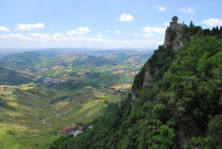 Guaita castle and landscape, San Marino republic, Italy Stock Photo - 7904831