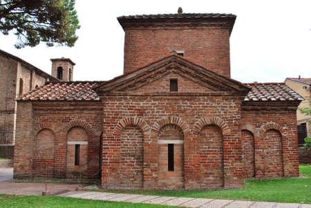 Galla Placidia Mausoleum exterior view, Ravenna, Italy photo