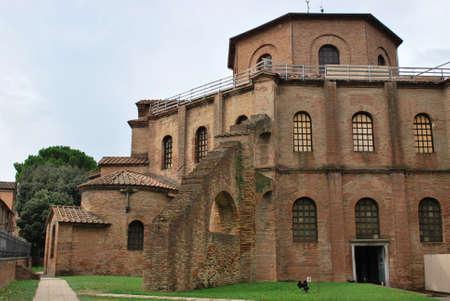St. Vitale basilica church exterior, Ravenna, Italy