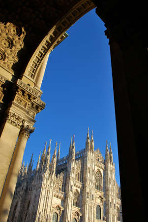 The Duomo, gothic cathedral of Milan, Lombardy, Italy