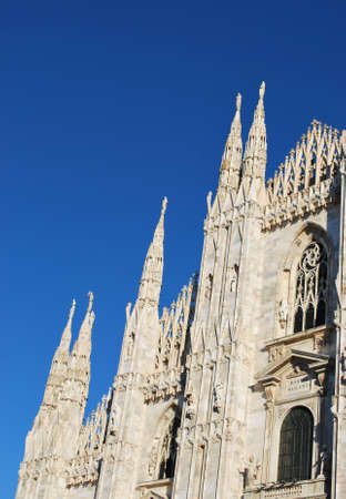 The Duomo, gothic cathedral of Milan, facade detail, Lombardy, Italy Stock Photo - 8622804