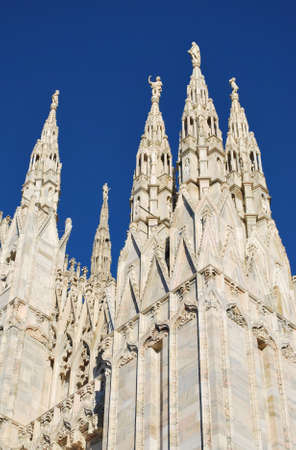 The Duomo, gothic cathedral of Milan, pinnacles detail, Lombardy, Italy Stock Photo - 8622885