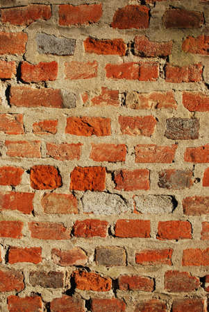 Red ancient brick wall texture background, vertical Stock Photo - 9091883