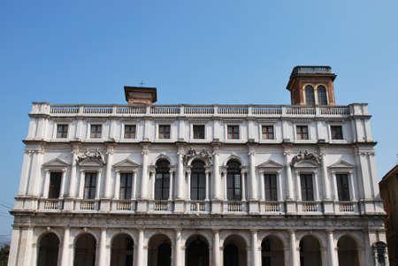 Public Library Palace, old square, Bergamo, Lombardy, Italy photo