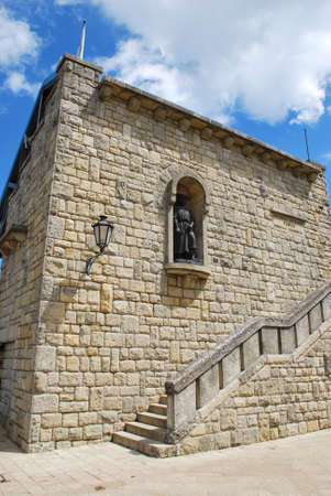 Medieval stone building, San Marino republic, Italy