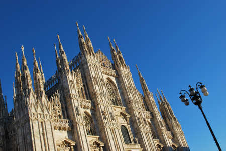 The Duomo, gothic cathedral of Milan, Lombardy, Italy photo