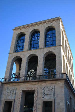 twentieth: Arengario Palace, Museum of the twentieth century, Milan, Italy Stock Photo