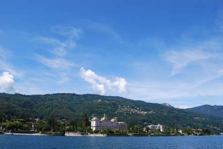 Panorama of Stresa on Lake Maggiore, Piedmont, Italy