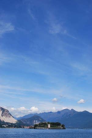 Panorama of Isola Bella, Borromean Island on Maggiore lake, Stresa, Italy