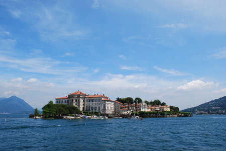 Panorama of Isola Bella, Borromean Island on Maggiore lake, Stresa, Italy photo