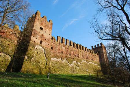 Medieval castle, San Colombano al Lambro, Lombardy, Italy