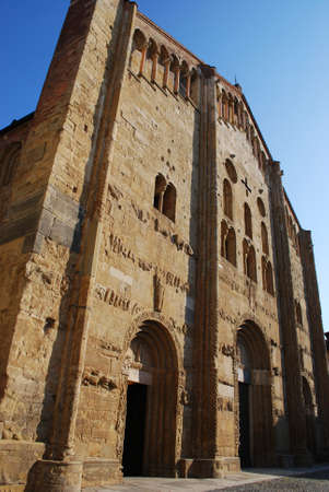 St  Michele basilica church facade, Pavia, Lombardy, Italy Stock Photo
