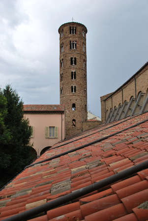 St  Apollinare Nuovo church round tower, Ravenna, Italy photo