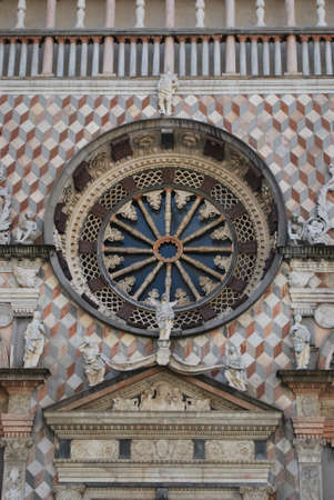 Colleoni chapel church facade detail, Bergamo, Lombardy, Italy photo