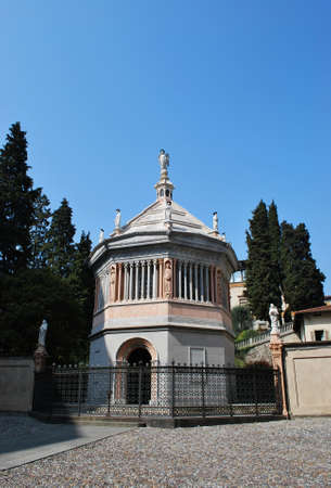 Beautiful baptistery in upper old town, Bergamo, Lombardy, Italy
