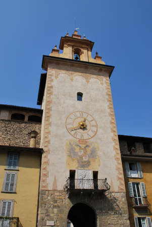 Historic tower bell, Bergamo, Lombardy, Italy Editorial