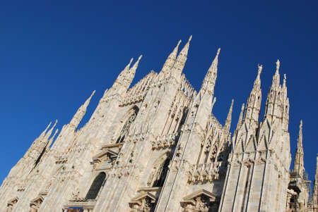 The Duomo, gothic cathedral of Milan, Lombardy, Italy Stock Photo - 15829964